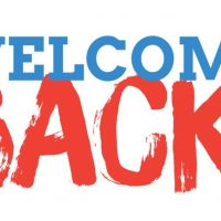 Welcome Back Everyone!