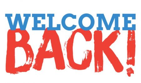 Welcome Back Everyone!