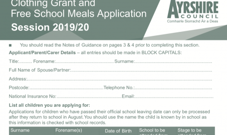 School Meals & Clothing Grant