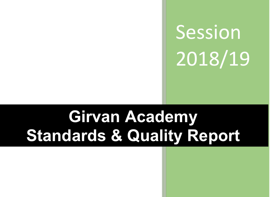 Screenshot of the Girvan Academy Standard and Quality Report