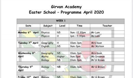 Easter School 2020