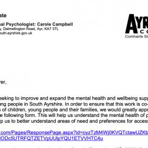 Mental Health & Wellbeing Form
