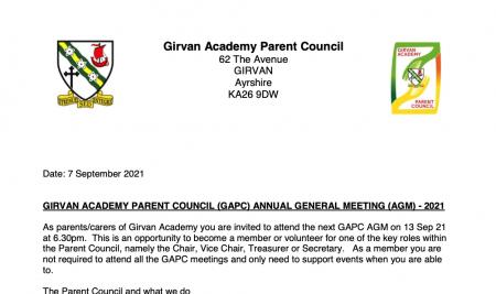 Parent Council AGM 2021